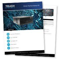 Orion Performance PC Spec Sheet