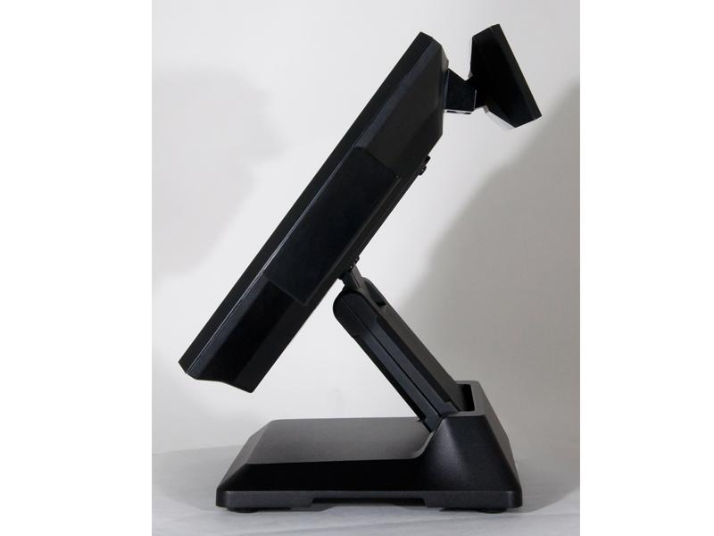 sistema de la posición de la pantalla táctil negro
