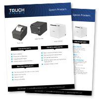 Epson Printers Spec Sheet
