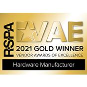 RSPA VAE 2021 Gold Winner for Hardware Manufacturer